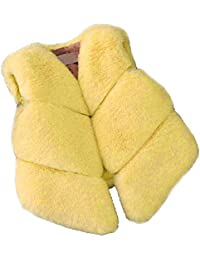 FOLOBE niños de otoño e invierno Faux Fur chalecos Los nuevos cabritos imitación fox pelo Gilets abrigos para las…
