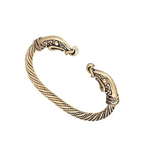 Dragón Pulseras para hombres accesorios tornillo uñas pulsera Punk gótico encanto nudo pulsera de Viking