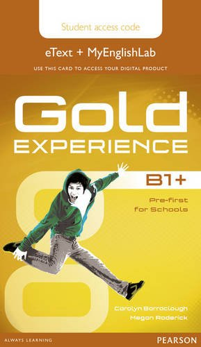 Gold Experience B1+ eText & MyEnglishLab Student Access Card