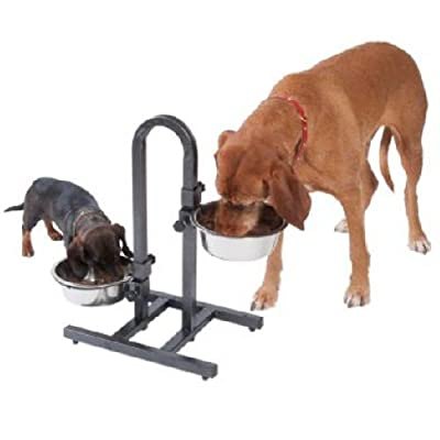 Raised Dog Bowl Stand Very Sturdy With 2 x 1.6 litres Stainless Steel Bowls from SPW