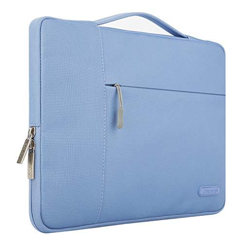 MOSISO Laptop Multifunktion Aktentasche Handtasche Kompatibel 2018 MacBook Air 13 A1932, Neu MacBook Pro 13 Zoll A1989&A1706&A1708 2018/2017/2016, Surface Pro 6/5/4/3 Polyester Hülle, Serenity Blau - Asus Sb