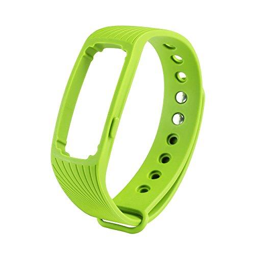 COOSA WristBand con multi-colore per ID107 banda braccialetto Smart Wristband Wireless Activity Bracciale Sport Arm Band nuovo Bluetooth intelligente frequenza cardiaca braccialetto multicolor sano Wristband sostituzione impermeabile (verde, ID107)