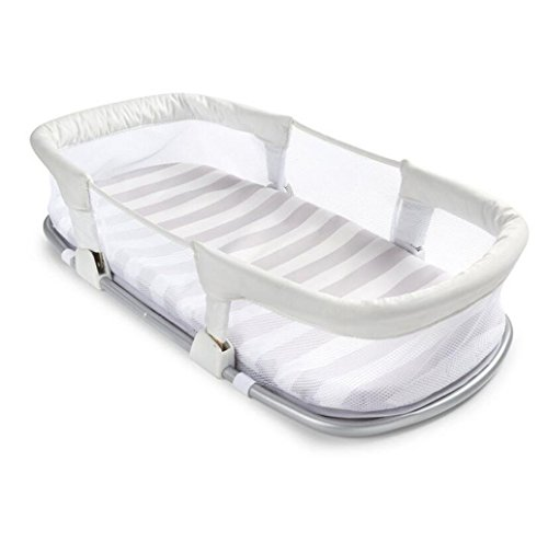 Neugeborenen Portable Krippe Multifunktions Schlafkorb Babyfach Klapp Reise Bett Safe Comfort Krippe Weiß (Farbe : Weiß) (Reise-klapp-krippe)