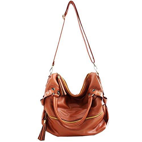 Fashion jinyouju Handbag-Borsa a tracolla, borsa Messenger-Borsa Tote da donna (marrone)
