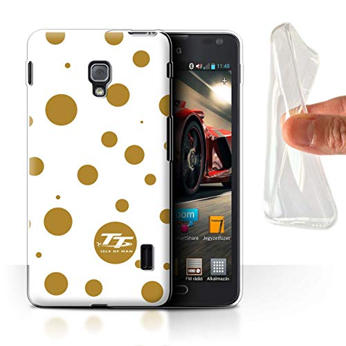 Isle of Man TT Offiziell Hülle/Gel TPU Case für LG Optimus F6 / Polka Dot Benzin Muster/Eleganz Kollektion (Case Lg F6 Handy)
