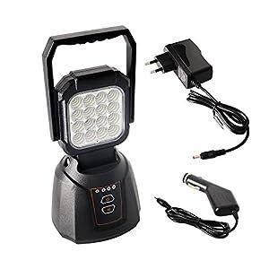AAIWA Foco LED Proyector 48W 4800LM Lámpara Camping Recargable Luz de Trabajo LED Linterna para Emergencia Taller Automóviles Patio Jardín y Modo SOS