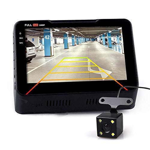 cuckoo-X B90S Plus 4,3 Zoll Auto DVR Recorder 1080P 140° Rückfahrfahrzeug Level ABS Kunststoff Shell Auto Kamera Recorder 105°C Thermostabilität mit Auto Armaturenbrett Cam