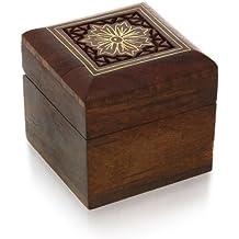 Scatola per gemelli anelli orecchini tep anelli regali piccoli gioielli in legno - Piccole Scatole Decorative