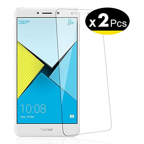 NEW'C Lot de 2, Verre Trempé pour Huawei Honor 6X, Film Protection écran - Anti Rayures - sans Bulles d'air -Ultra Résistant (0,33mm HD Ultra Transparent) Dureté 9H Glass