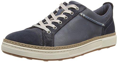 Clarks Lorsen Edge, Sneakers homme Bleu (Navy Combi Lea)