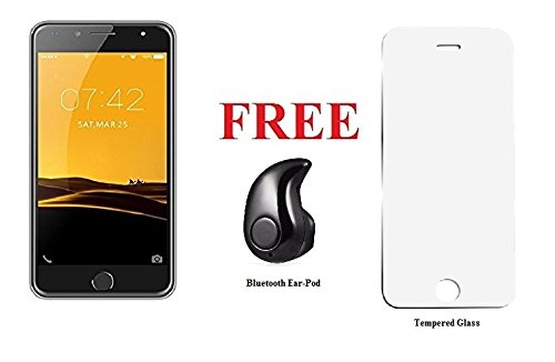I KALL K1 5 Inch Display (1+8GB) 4G Volte Smart Phone With Freebie Bluetooth Ear-Pod (Silver)