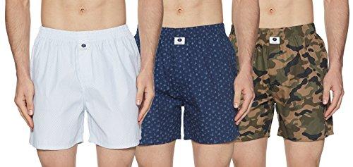 Symbol Amazon Brand Men's Printed Boxers (Pack of 3)(SYMBXPO3-10_3411, 3622 & 3853_Multicolor_Large)