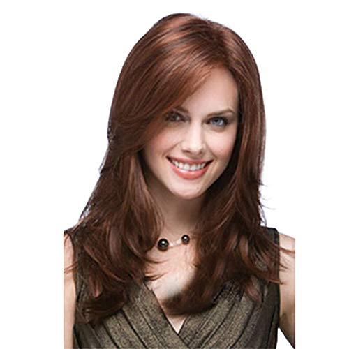 Fleurapance Peluca de pelo largo para mujer
