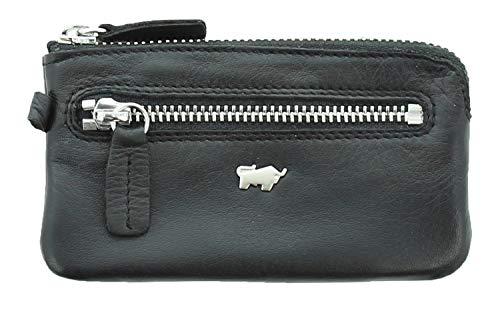 BRAUN BÜFFEL Schlüsseletui Golf 2.0 M Slim - aus echtem Leder (schwarz) -