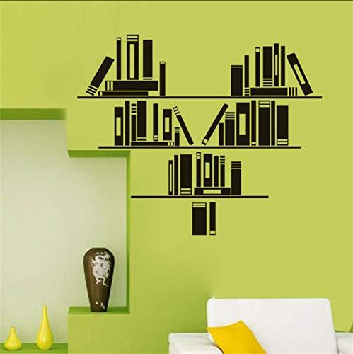ponana adesivi murali a forma di cuore adesivi home decor soggiorno adesivi murali in vinile libri wall sticker 60x72cm