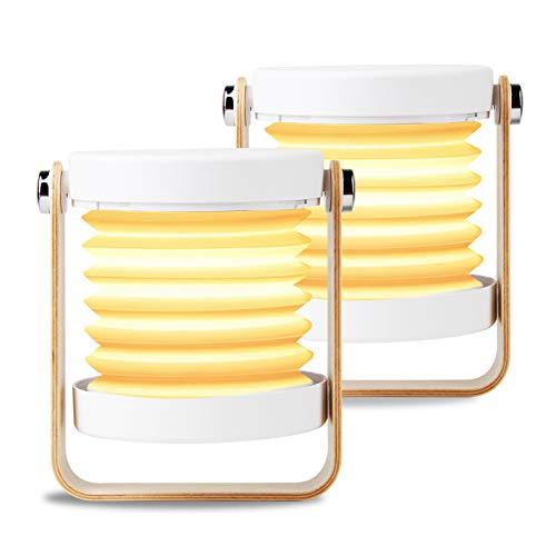 OOTOO 2 er LED Nachttischlampe Tischlampe Tischleuchte Nachttischleuchte Touch-Schalter, 3 dimmbare Helligkeite kabellos und tragbar 4300K warmweiß Kinder für Schlafzimmer, Wohnzimmer, Arbeitszimmer