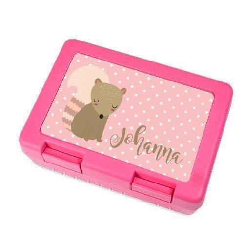 Brotdose mit Name für Mädchen in Pink I Kinder-Dose personalisiert I kids lunch boxes I mit eigenen Namen & Wunschmotiv I Lunchbox I Brotdose I Brotbüchse I Küche I Essen I für Mädchen