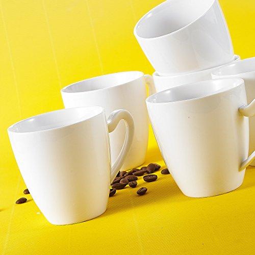 MALACASA, Serie Elvira, 18 TLG. Porzellan Kaffeeservice Becher Set Bechersets 380ml
