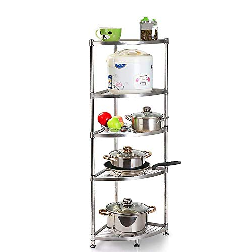 CXHMY 304 Edelstahl küche dreieck Rack eckzarge Put Topf Regal lagerung liefert Boden mehrschichtige (größe: 5 Schichten) -