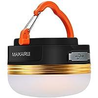 MAIKAIRUI Campeggio Lanterna USB Ricaricabile 250lm/1800mAh- Torcia elettrica con alimentazione