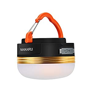 MAIKAIRUI Camping Lantern - Ultra Lumineux 250 Lumens, Usb Rechargeable, magnétique, batterie intégrée (1800mAh), 3 modèles légers, Gyrophare