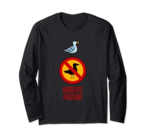 Absolute Freiheit und Rebellion - Die Möwe, die Sartre las Langarmshirt