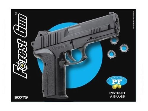 pistola airsoft -Forest Gun 50779 -ball 6mm- 0,4 Joule- color negro