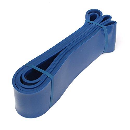 TEQIN Bandas de Resistencia Látex Premium para Entrenamiento de Elevaciones, Levantamiento de Peso, Calistenia o Ejercicios de Fitness, 65 a 175 Libras de Resistencia (Azul)