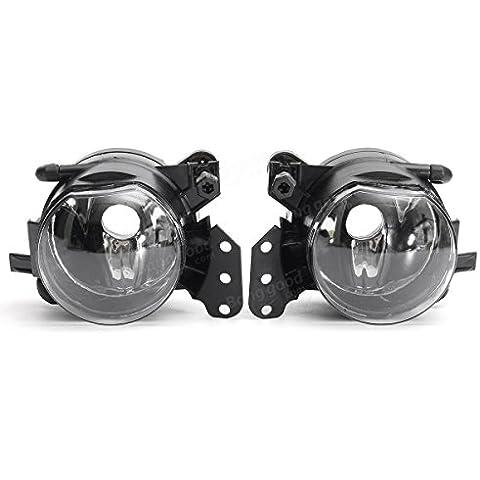 Poseidon 2pcs LED luces antiniebla delantera del coche de la cáscara de marcha diurna marco de la lámpara de BMW e60 e90 e63