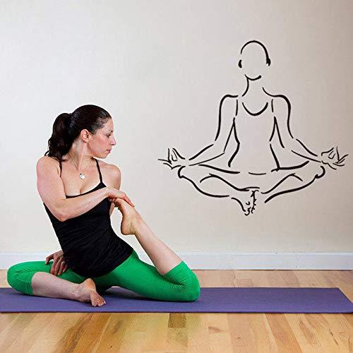 zxddzl Decoración para el hogar Yoga Hinduismo Budismo Calcomanía de Pared Extraíble...