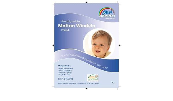 Alvi Molton-Windeln weiß 80 x 80 cm