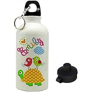 Trinkflasche mit Name, Schildkröte, für Kinder, geeignet für Kita, Kindergarten oder als Geschenk zur Einschulung...