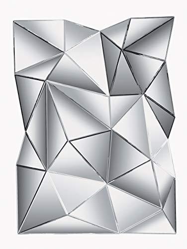 Spiegel Prisma, grosser, ausgefallener XXL Designspiegel, moderner, extravaganter Wandspiegel, große Wanddeko, Spiegelglas (H/B/T) 140x105x12cm
