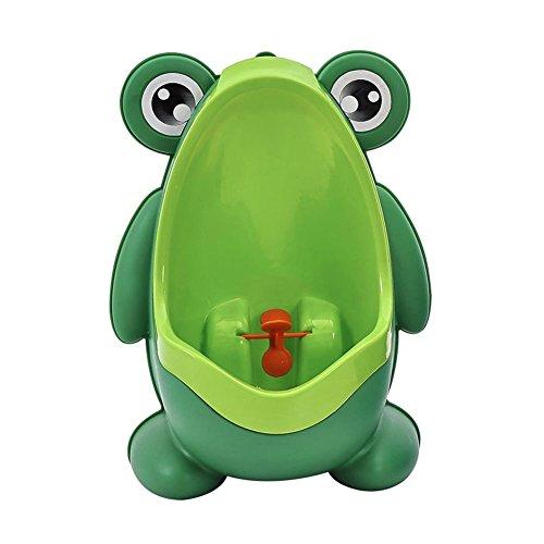 Alextry Baby Boy Potty Toilet Training Frosch Kinder Stand vertikal Urinal Pipì Baby Töpfchen auf Wand grün -
