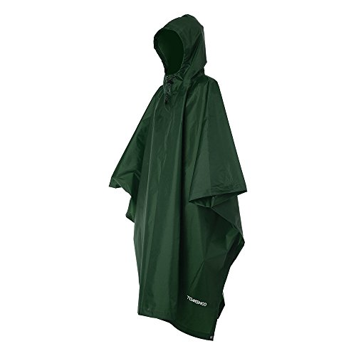 TOMSHOO Poncho Lluvia Reusable Ripstop Impermeable