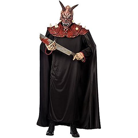 Carnival Toys-03041 hombros con capucha de látex Toalla máscara y dimensiones demonio: aprox. 150