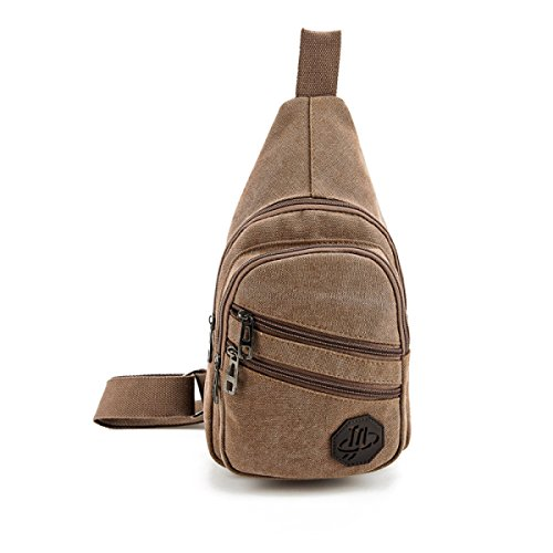 BULAGE Paket Männer Brusttaschen Lässig Im Freien Reise Schulter Mode Sport Rucksäcke Mode Shopping Ausgehen Studenten Brown