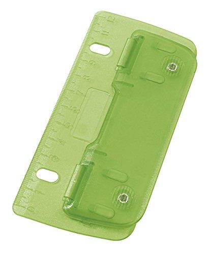 Wedo 67811 Taschenlocher (aus Kunststoff zum Abheften für 8 cm Lochung, mit 12 cm Skala) hellgrün
