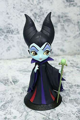 Figura de Colección Maleficent Maléfica de La Bella Durmiente 14cm Serie QPOSKET Banpresto Disney Characters Sleeping Beauty Color Negro Versión A