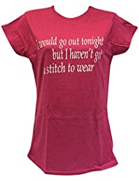 Blue Bagal Ladies The Smiths T Shirt 'I Would Go Out Tonight but I haven't Got A Stitch to Wear' in Pink