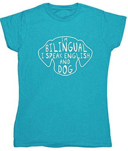 hippowarehouse-im-bilingual-i-speak-english-and-dog-womens-fitted-short-sleeve-t-shirt