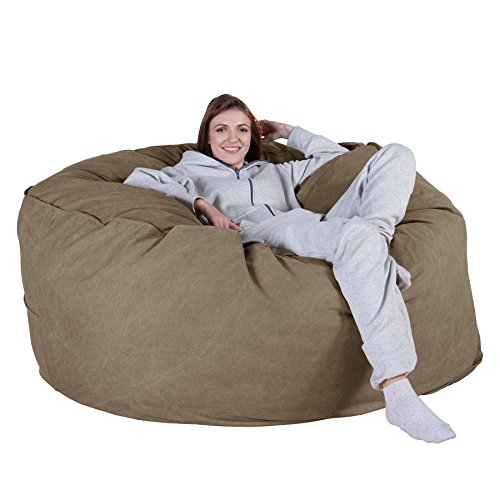 Lounge Pug® - Chunky DENIM - CLOUDSAC - Huge Memory Foam GIANT Bean Bag  SOFA - 1000 Litre - Beanbag UK - EARTH GREEN