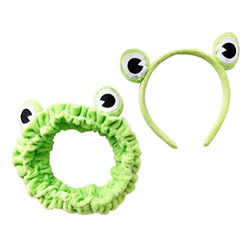 Amosfun 2 stücke Plüsch Frosch Stirnband Haarreif Tier Kostüm Zubehör für Kinder Party Cosplay