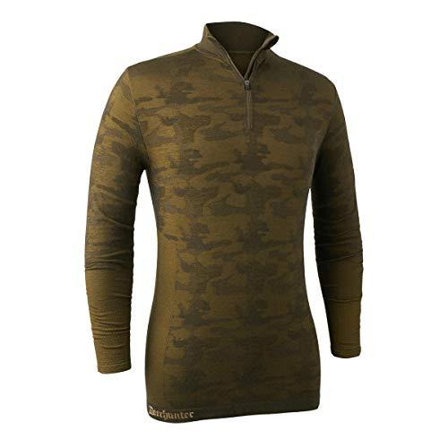 410HlHrfM4L. SS500  - Deerhunter Camou Wool Undershirt w. Zip-neck - Beech green Breathable