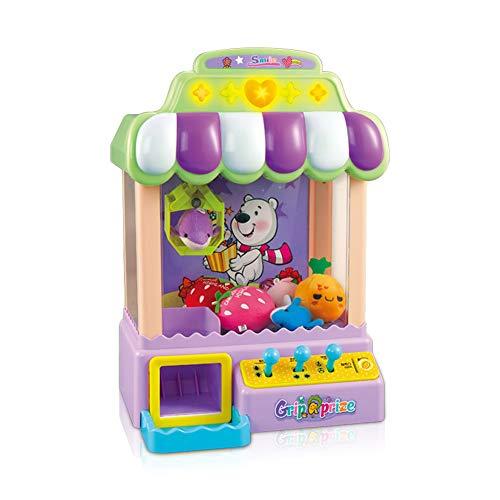 Card Boy Karten-Jungen-Spielzeug-Greifer-Greifer-Maschine für Kinder und Parteien, Eigenschaften LED-Lichter u. Justierbare Töne u. USB-Port-Kabel mit 3 Plüsch-Spielwaren und 3 gefüllten Eiern