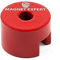 Imán expertos albu1913m5–4botón Imán, 5mm de diámetro agujero central (Pack de 4)