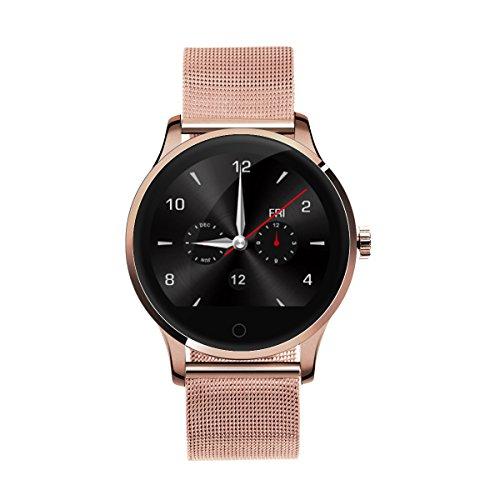 DIGGRO K88H - Smartwatch mit Herzfrequenz Sensor ( Uhr, Bluetooth Telefon, IP54 Wasserdicht Staubdicht, Pulsmesser Schrittzähler Schlafanalyse Kalorienzähler für ios Android )