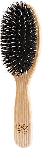 Tek spazzola per capelli ovale grande in legno di frassino con setole in cinghiale e nylon - Handmade in Italy