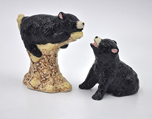 Cosmos Gifts Black Bears Ceramic Salt and Pepper Shakers Animals Wildlife 20775 New Animal Shaker