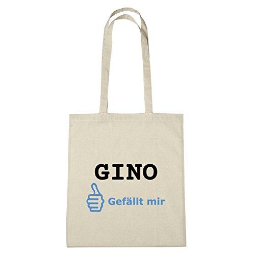 JOllify Gino di cotone felpato b5388 schwarz: New York, London, Paris, Tokyo natur: Gefällt mir